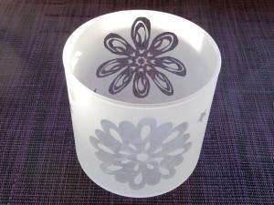 花柄グラス/キャンドルグラス